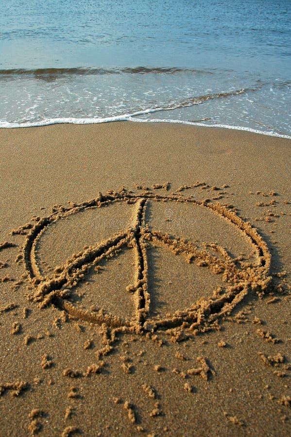 Playa de la paz fotos de archivo libres de regalías
