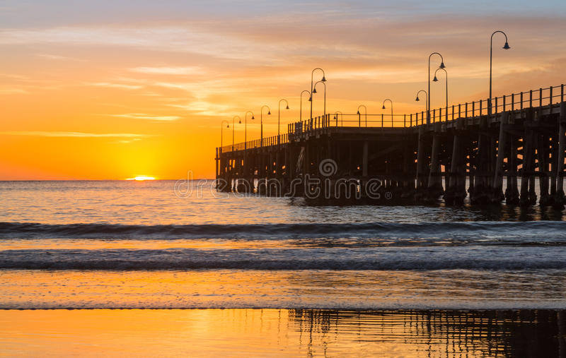 Playa de la salida del sol de Coffs Harbour Australia imagen de archivo libre de regalías