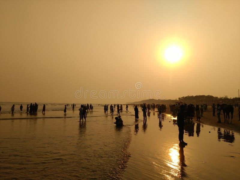 Playa de la tarde foto de archivo libre de regalías