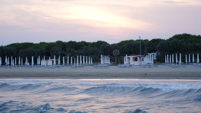 Playa de la tarde de Italia foto de archivo libre de regalías