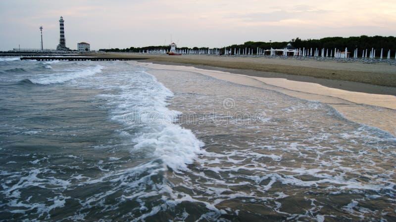 Playa de la tarde de Italia imagenes de archivo