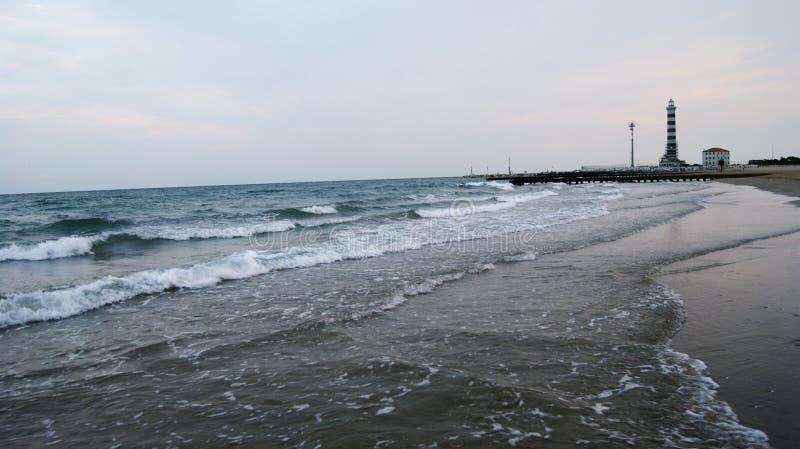 Playa de la tarde de Italia fotos de archivo