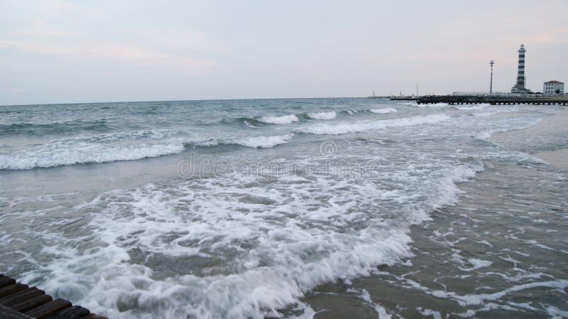 Playa de la tarde de Italia imágenes de archivo libres de regalías