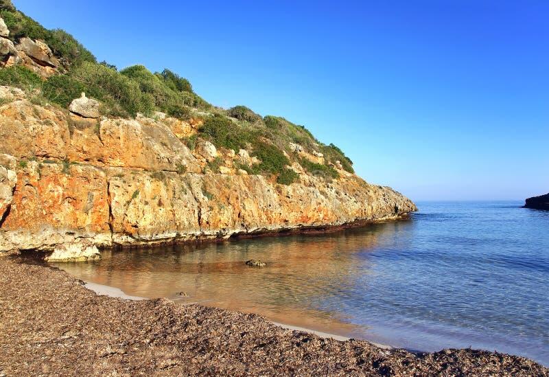 Playa de la virgen de Cala Brafi fotos de archivo