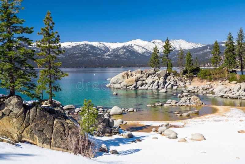 Playa de Lake Tahoe fotos de archivo libres de regalías