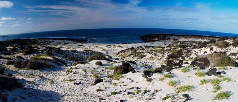 Playa de Lanzarote fotografía de archivo