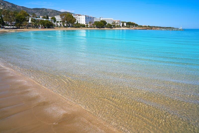 Playa de las丰特斯海滩在Alcossebre 免版税库存图片