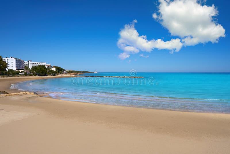 Playa de las丰特斯海滩在Alcossebre 库存照片