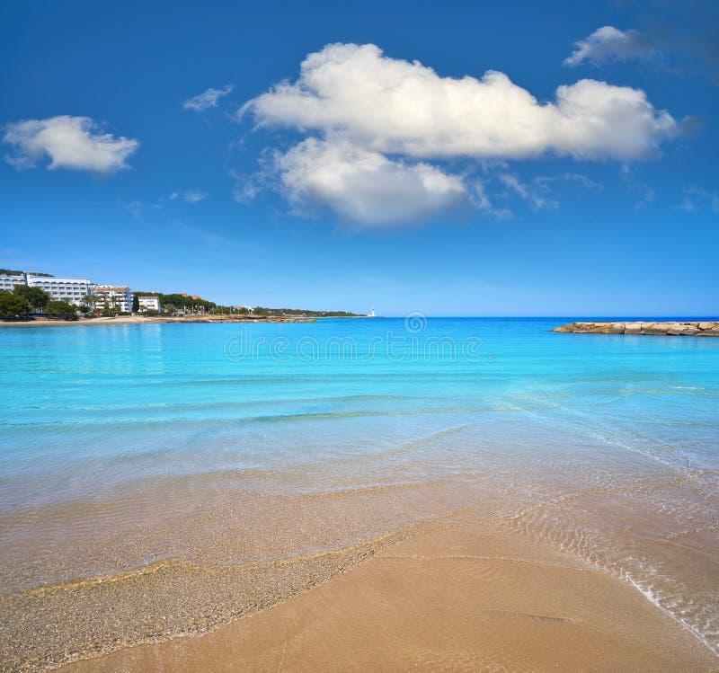 Playa de las丰特斯海滩在Alcossebre 免版税图库摄影