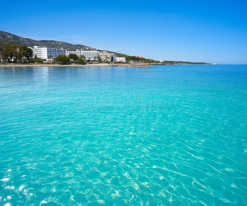 Playa de las丰特斯海滩在Alcossebre 库存图片