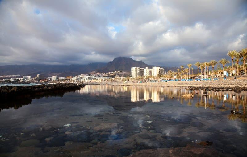 Playa De las Amerika, Tenerife stockbilder
