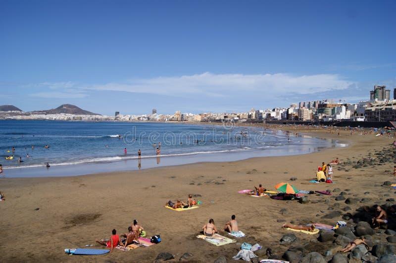Playa de Las Canteras foto de archivo
