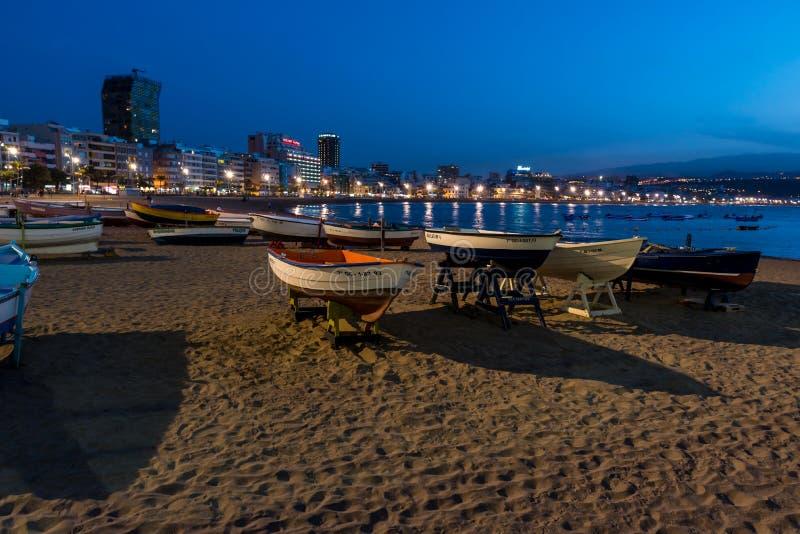 Playa de Las Canteras - Beach in Las Palmas de Gran Canaria stock photography