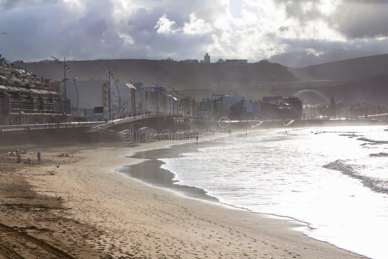 Playa de Las Canteras, Las Palmas de Gran Canaria foto de stock