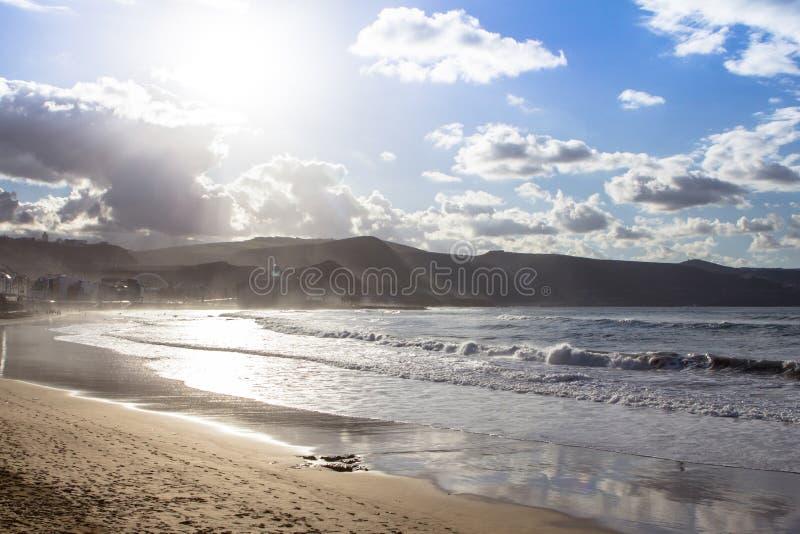 Playa de Las Canteras, Las Palmas de Gran Canaria fotos de stock