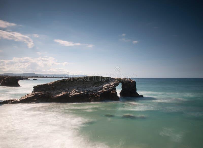 Playa de Las Catedrales imagenes de archivo