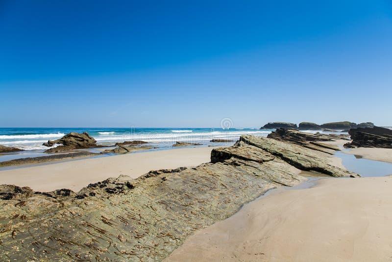 Playa de las Catedrales stock images