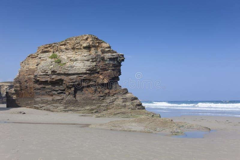 Playa de las catedrales, Ribadeo fotografía de archivo libre de regalías