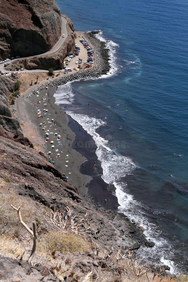 Playa De Las Gaviotas, Tenerife obrazy stock