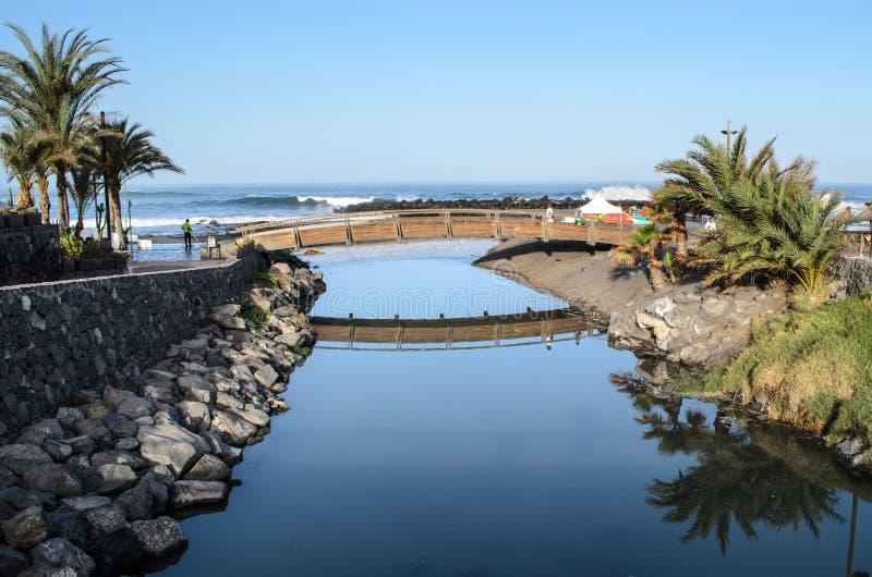 Playa de Las Am?ricas, Tenerife, islas Canarias, Espa?a imagen de archivo libre de regalías