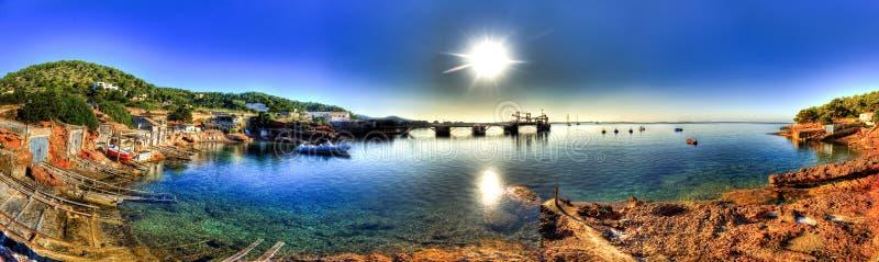 Playa de las Salinas - Ibiza arkivbilder