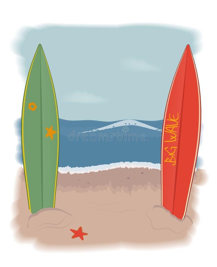 Playa de las tablas hawaianas libre illustration