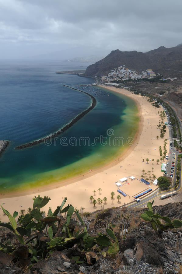 Playa de las Teresitas. On Teneriffa royalty free stock photos