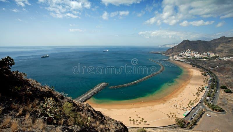 Playa de las Teresitas. On Tenerife, Canary Islands stock images