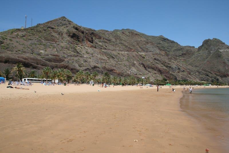 Playa de Las Teresitas stockfotos