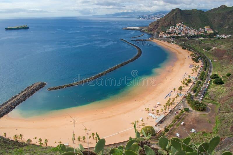 Playa DE Las Teresitas, de Canarische Eilanden van Tenerife, Spanje stock afbeelding