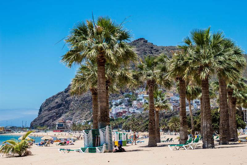 Playa DE Las Teresitas dichtbij Santa Cruz de Tenerife royalty-vrije stock foto