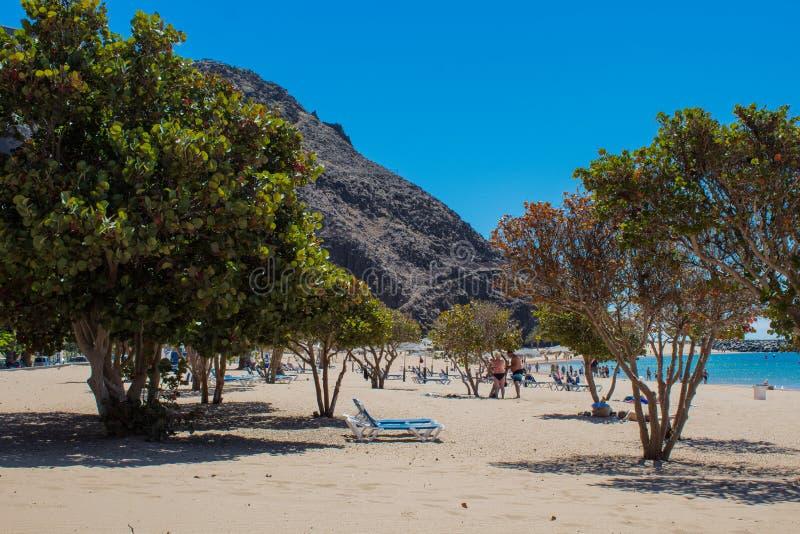 Playa DE Las Teresitas dichtbij Santa Cruz de Tenerife stock fotografie