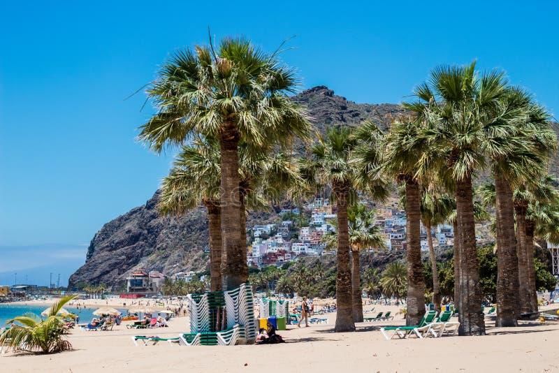 Playa de Las Teresitas près de Santa Cruz de Tenerife photo libre de droits