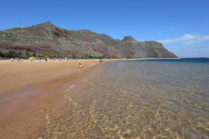 Playa De Las Teresitas, Tenerife Fotografia Editorial