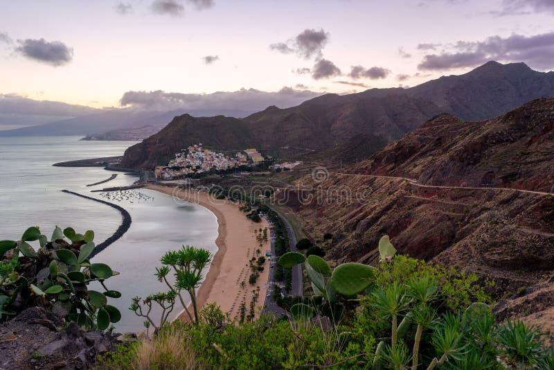 Playa DE Las Teresitas, Tenerife stock afbeeldingen