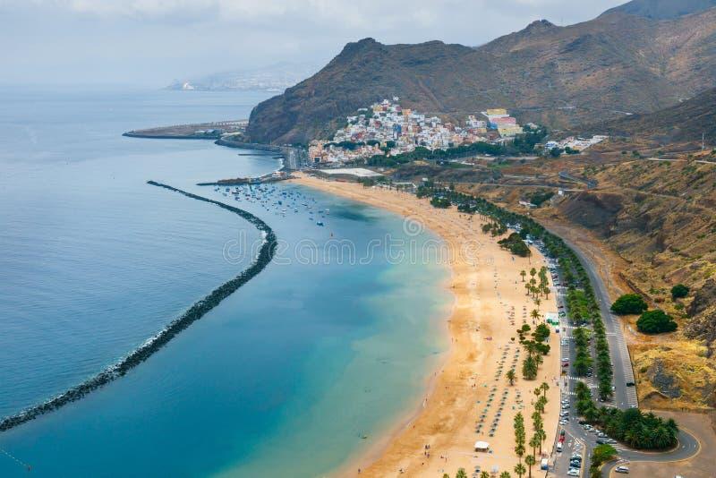 Playa DE las Teresitas, Tenerife, Canarische Eilanden, SP stock afbeelding