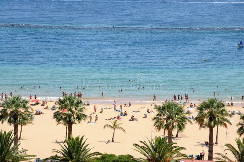Playa de Las Teresitas, Tenerife Spain. Playa de Las Teresitas, Canary Island Tenerife, Spain stock photography
