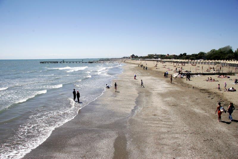 Playa de Lido al sur foto de archivo