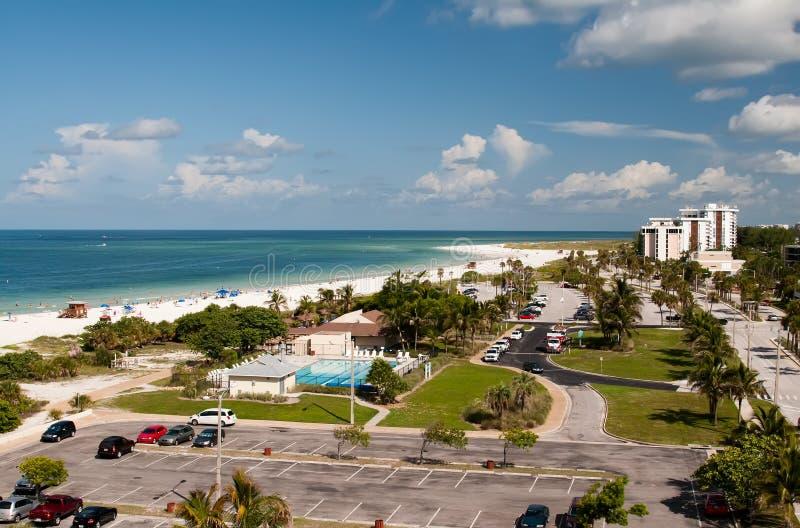 Playa de Lido en clave de la siesta en Sarasota imagen de archivo libre de regalías