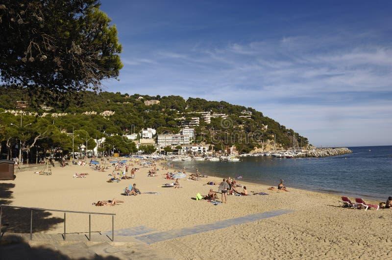 Playa de Llafranc, Costa Brava, Girona, España foto de archivo libre de regalías