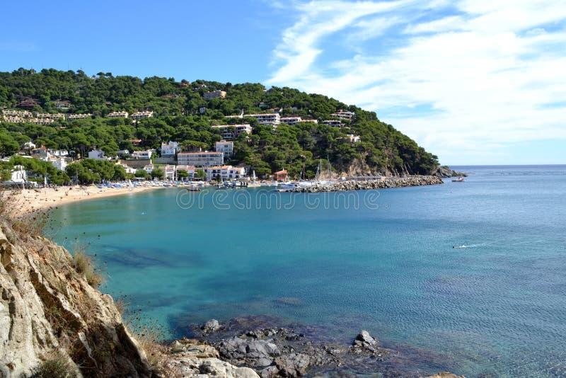 Playa de Llafranc, España foto de archivo libre de regalías