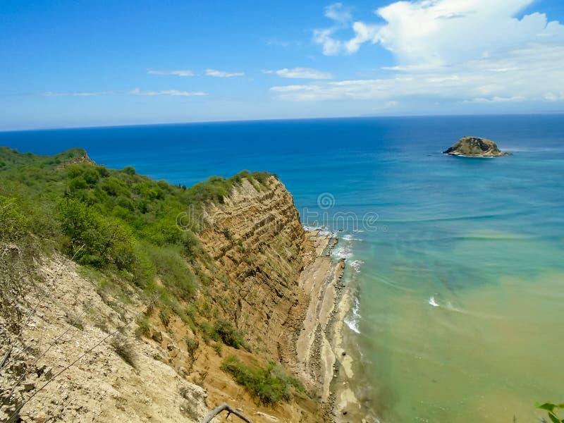 Playa De los Frailes in Ecuador stockfotos