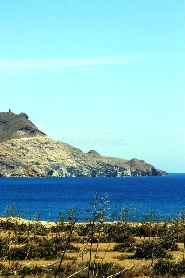 Playa de los Genoveses, Espanha imagem de stock