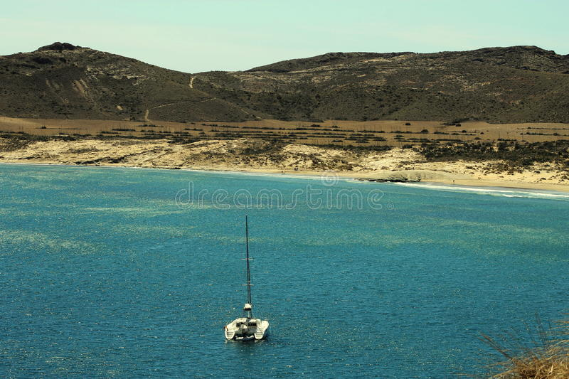 Playa de los Genoveses, Espanha imagem de stock royalty free