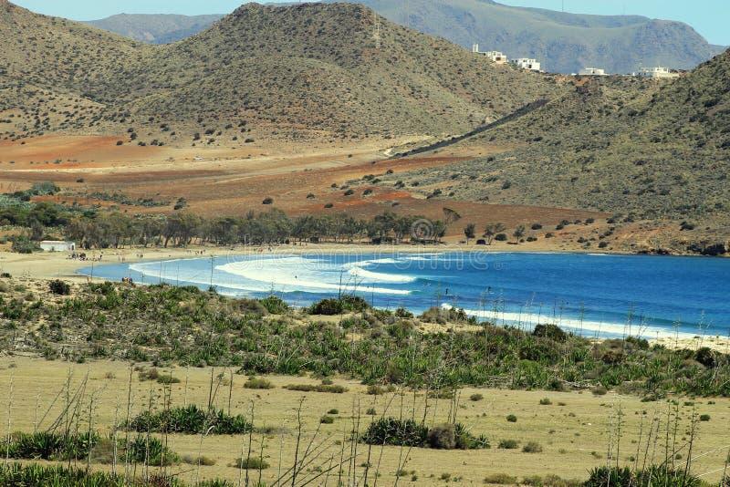 Playa de los Genoveses, Espanha fotos de stock