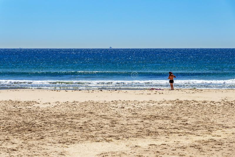 Playa de los Lances à Tarifa, Espagne photo libre de droits