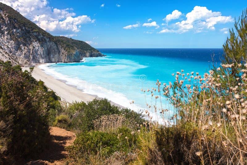 Playa de los Milos foto de archivo
