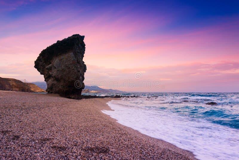 Playa de Los Muertos i Spanien arkivfoton