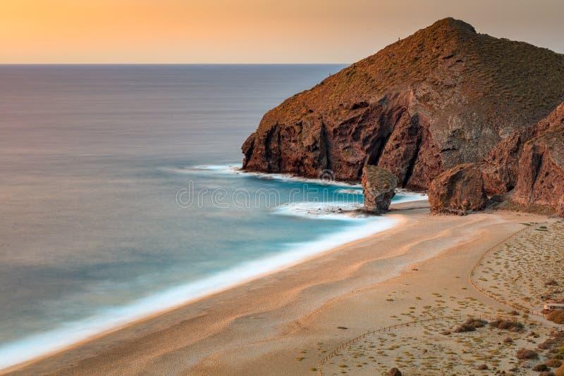 Playa de los muertos. Taken before sunrise stock image