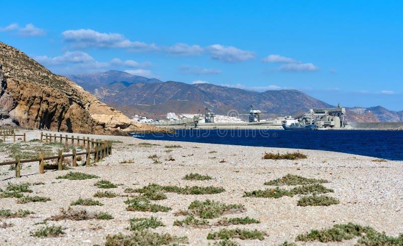 Playa de Los Muertos. Spain. Playa de Los Muertos or Beach of the Dead in Cabo de Gata-Nijar Natural Park. Carboneras. Province of Almeria. Southern Spain stock images